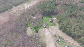Vlucht over boerderij stock videobeelden