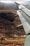 Vlucht over cusco Stock Foto