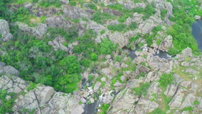 Vlucht over de canion stock videobeelden