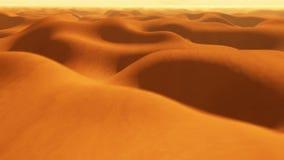 Vlucht over de duinen van het woestijnzand stock footage