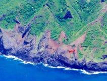 Vlucht over de kustlijn van Na ` Pali royalty-vrije stock afbeeldingen