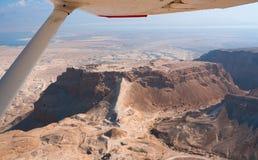 Vlucht over Masada Stock Foto's