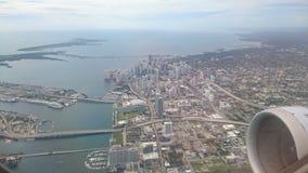 Vlucht over Miami Royalty-vrije Stock Foto's