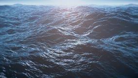 Vlucht over oceaan, 4k video royalty-vrije illustratie