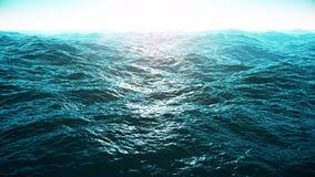 Vlucht over oceaan, 4k video stock illustratie