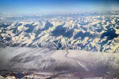 Vlucht over Pamir en Tien Shan 5 Stock Afbeelding