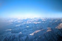 Vlucht over Pamir en Tien Shan 1 Stock Afbeelding
