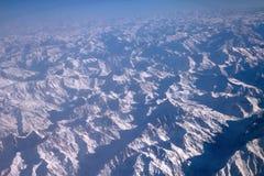 Vlucht over Pamir en Tien Shan 1 Stock Fotografie