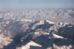 Vlucht over Pamir en Tien Shan 1 Stock Foto's