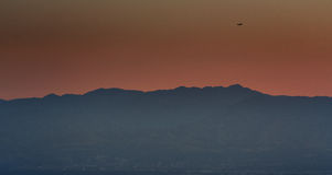 Vlucht over Salt Lake City Royalty-vrije Stock Foto's