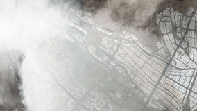 Vlucht van de heilige stad Makkah en de heilige plaatsen stock illustratie