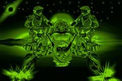 Vlucht van motorfiets Stock Afbeelding