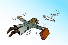 Vlucht van succes Stock Afbeelding