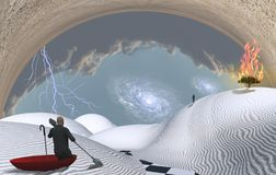 Vlucht van werkelijkheid vector illustratie