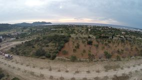 Vlucht in Zonsondergang op zee - Luchtvlucht, Mallorca stock footage