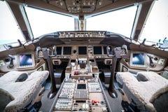 Vluchtdek in regelmatig vliegtuig stock fotografie