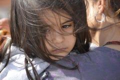 Vluchtelingen die in Lesvos aankomen royalty-vrije stock foto