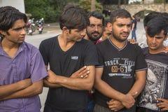 vluchtelingen Meer dan half zijn migranten van Syrië, maar er zijn vluchtelingen van andere landen Stock Foto