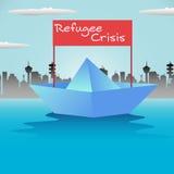 Vluchtelingsboot Royalty-vrije Stock Afbeelding