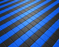 Vluchtend blauw en zwart mozaïek Stock Fotografie