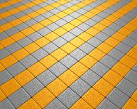 Vluchtend geel en grijs mozaïek Stock Fotografie