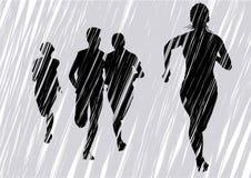 Vluchtende vrouwen grijs vector illustratie