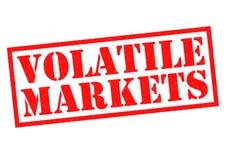Vluchtige markten stock illustratie