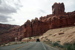 Välva sig nationalparken, Utah, USA Arkivbild