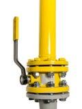 Válvula de gas con la tubería Imagen de archivo