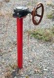 Válvula del tubo de gas Imagen de archivo libre de regalías
