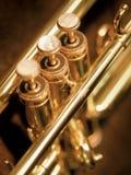 Válvulas de la trompeta Fotografía de archivo