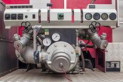 Válvulas del coche de bomberos Imagen de archivo
