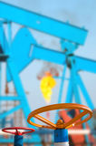 Válvulas do óleo Foto de Stock