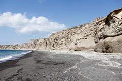 Vlychada strand Arkivfoto