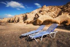 Vlychada-Strand auf Santorini-Insel Lizenzfreie Stockfotografie