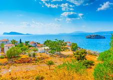 Vlychos village at Hydra Royalty Free Stock Photos