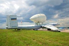 VM-T Atlant - ciężki samolot transportowy eksperymentalnego projekta biuro Myasishchev na MAKS-2017 pokazie lotniczym Zdjęcie Royalty Free
