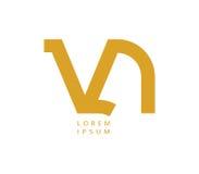 VN Logo Design Stock Photography