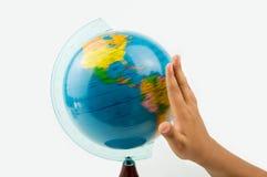 Vänd runtom i världen världen Arkivfoto