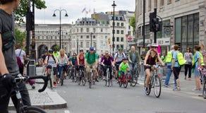 Événement de recyclage de RideLondon - Londres 2015 Photographie stock