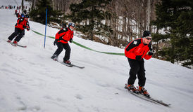 Événement du tuyau de Ski Patrol Fireman Photos libres de droits