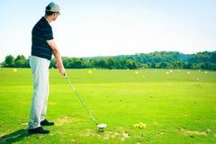 Övning för golfspelare Royaltyfria Foton