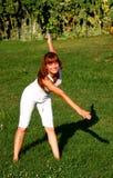 övningskvinna Royaltyfria Bilder