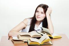 Vänlig högskolestudent Arkivfoto