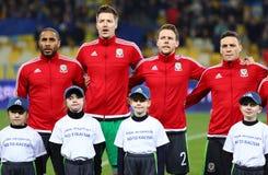 Vänlig match Ukraina vs Wales i Kyiv, Ukraina Fotografering för Bildbyråer