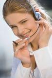vänlig operatörstelefon Royaltyfria Bilder
