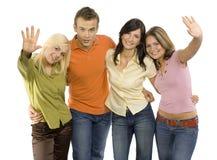 vänner grupperar tonårs- Royaltyfri Foto