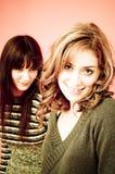vänner två Fotografering för Bildbyråer