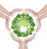 Vänskapsmatch för eco för kvinnahandhåll Royaltyfria Foton