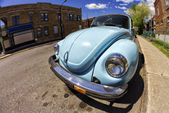 Vintage Blue VW Beetle Stock Images